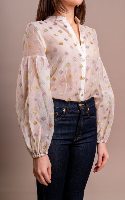 Sage & Ivy Ivy couture blouse pastel