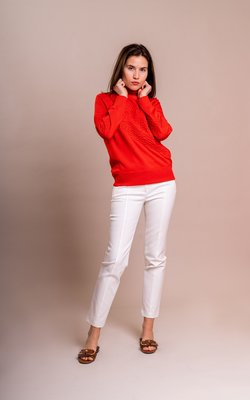 Tory Burch Gemini turtleneck red