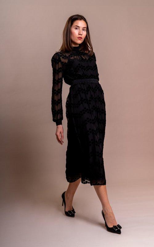 Velvet Devore dress Printed