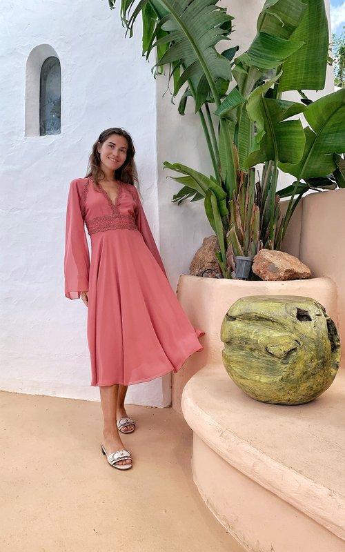 Giamba Bohemian rose dress