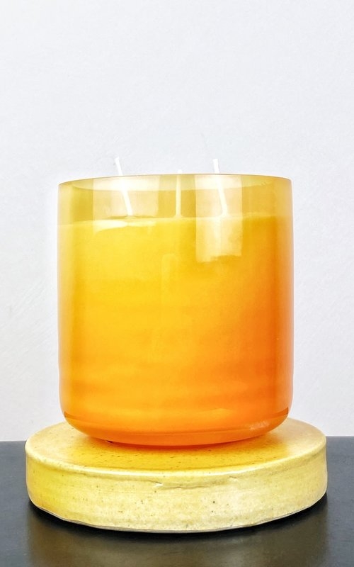 Scented candle orange