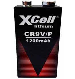Xcell 9 volt lithium block battery