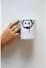 Monkey Climber Facedown White mug