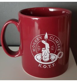 Monkey Climber Keepers of the Faith Red mug