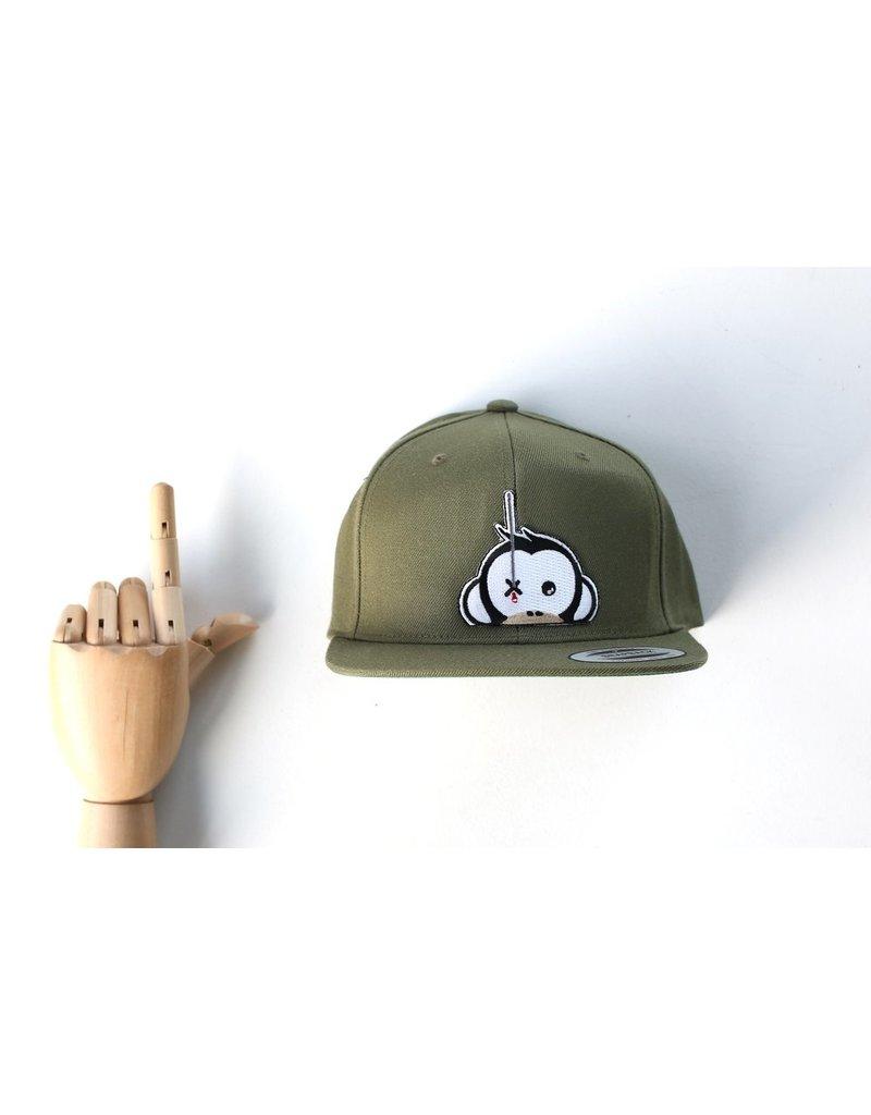 Monkey Climber Logo patch snapback Olive