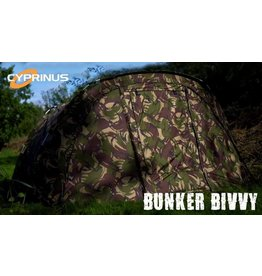 Cyprinus DPM Bunker Compact 1 Man Carp Fishing Bivvy Shelter + OLIVE  Wrap