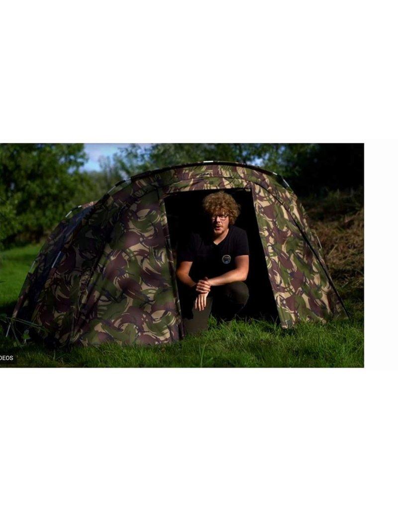 Cyprinus DPM Bunker Compact 1 Man Carp Fishing Bivvy Shelter + OLIVE  Wrap