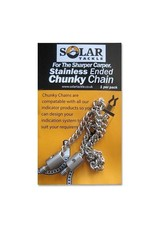Solar Stainless ended chunky chain 9 inch