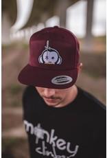 Monkey Climber Logo patch snapback burgundy