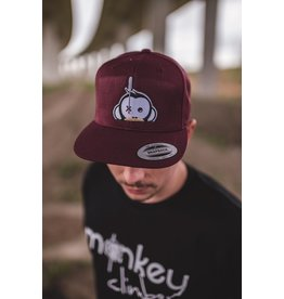 Monkey Climber Logo patch snapback burgundy