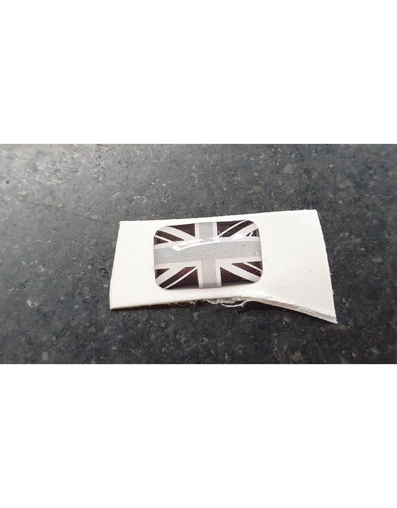 Buttslaps en stickers Domed Flag 7mmx11mm