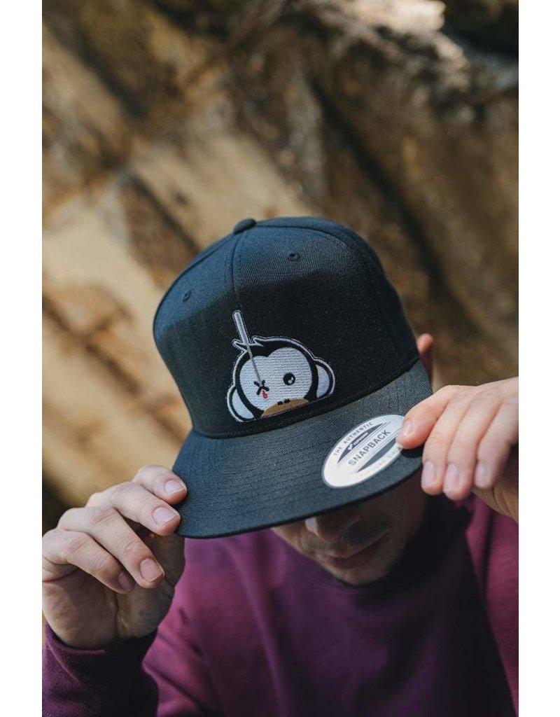 Monkey Climber Logo patch snapback black