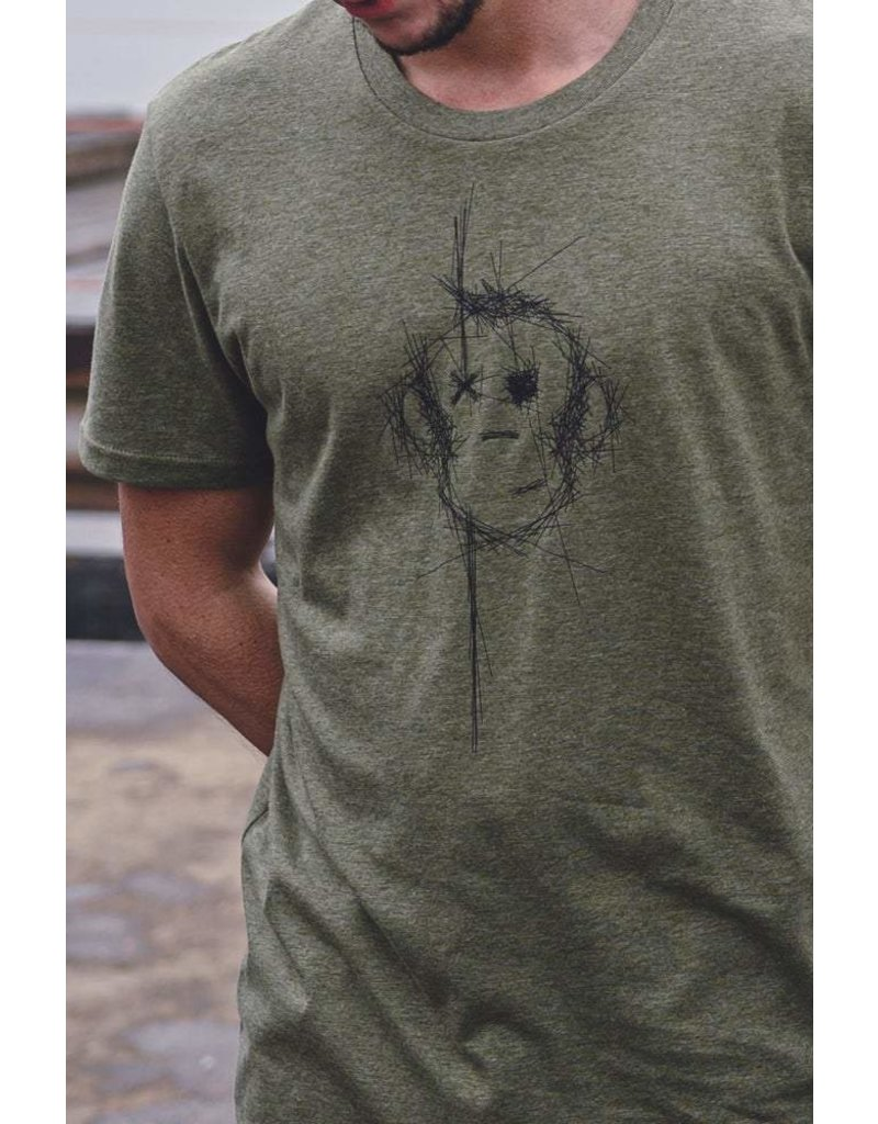 Monkey Climber Scratch the surface tee Olive