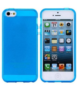 ZWC Glossy Blauwe TPU iPhone 5(s) / SE 2016 Case