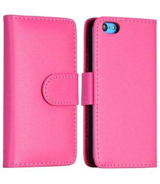 PU Leren Basic Flipcase iPhone 5c - Roze