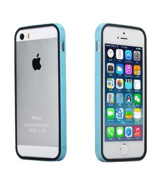 Rock Rock TPU Combo Bumper iPhone 5(s)/SE - Blauw/Zwart