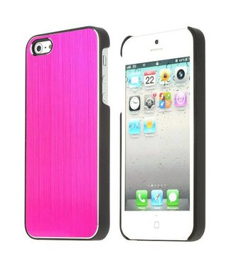 ZWC Aluminium Geborsteld Roze iPhone 5/5S Case
