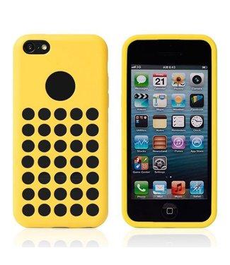 TPU Softcase iPhone 5c - Gaten Geel