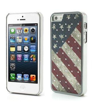ZWC Amerikaanse vlag hardcase Iphone 5(s) - SE 2016