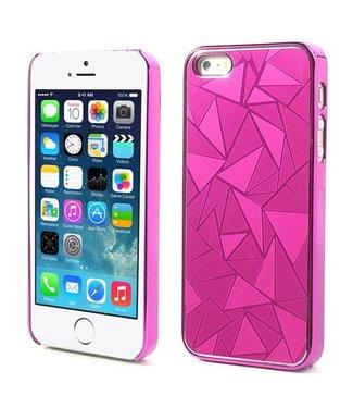 Aluminium coating hardcase iphone 5 hard roze