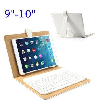 TVC Universeel Bluetooth Keyboard + Leren Case Stand voor iPad