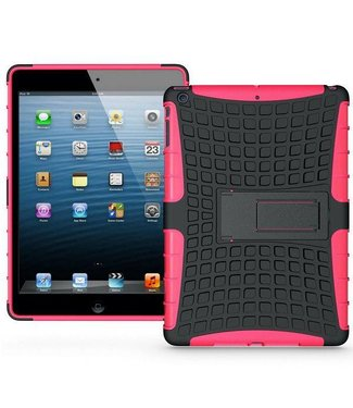 ZWC Robuuste bescherming + TPU Hybrid Stand Case voor iPad Air Roze