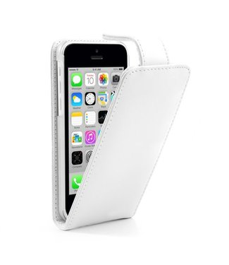 Doormoon Doormoon PU Leren Flipcase iPhone 5c - Wit
