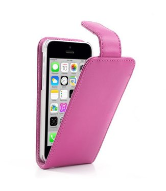 Doormoon Doormoon PU Leren Flipcase iPhone 5c - Roze