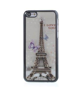 3D Eiffeltoren zwart wit hoesje voor iPhone 5c
