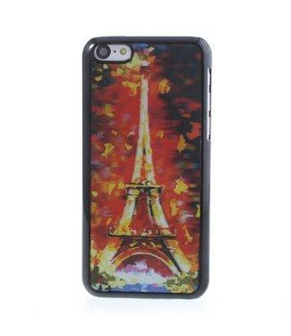 3D Eiffeltoren kleuren hoesje voor iPhone 5c