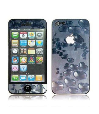 3D Hartjes voor iPhone 5 Voor-en Achter Full Body protector