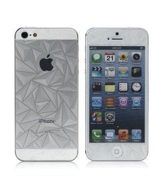 3D Diamanten voor iPhone 5 Voor-en Achter Full Body protector