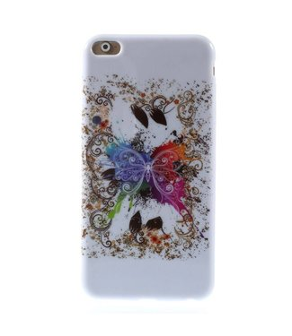 ZWC TPU Softcase iPhone 6(s) plus - Vlinder Krullen