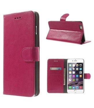 Crazy Horse Crazy Horse PU Leren Wallet iPhone 6(s) plus - Roze
