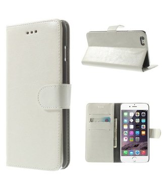 Crazy Horse Crazy Horse PU Leren Wallet iPhone 6(s) plus - Wit