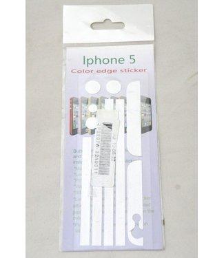 Witte sticker bumper voor iphone 4/4s