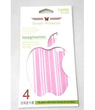 3d screen protector roze voor iphone 4/4s