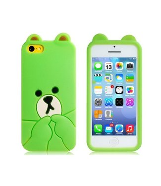 ZWC Siliconen 3D Softcase iPhone 5c - Groen