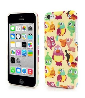 Uilenserie TPU Softcase iPhone 5c - Vogels