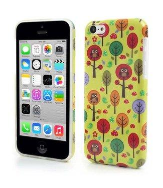 Uilenserie TPU Softcase iPhone 5c - Uiltjes en Bomen