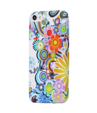 TPU Softcase iPhone 5c - 60s Bloemen