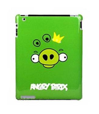 ZWC Hard Plastic Backcase Angry Birds Voor iPad 2,3,4 - Groen