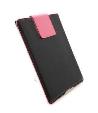 ZWC PU Leren Inschuifhoes Voor iPad 2,3,4 - Zwart/Roze