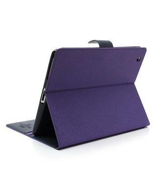 TVC Mercury Goospery PU Lederen Wallet Hoes voor iPad 2/3/4 - Blauw - Paars