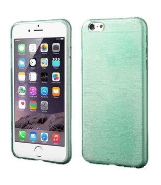 ZWC TPU Geborstelde Softcase iPhone 6(s) plus - Cyaan