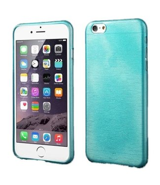 ZWC TPU Geborstelde Softcase iPhone 6(s) plus - Blauw
