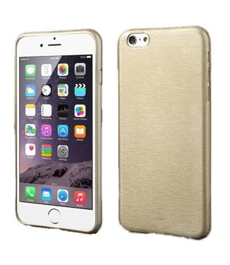 ZWC TPU Geborstelde Softcase iPhone 6(s) plus - Champagne
