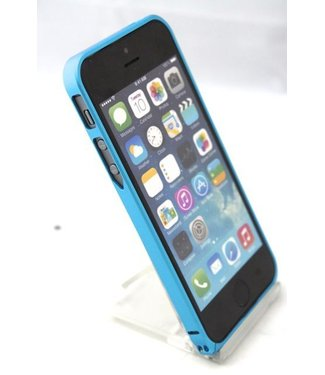 ZWC 0.7mm Ultra dun Aluminium Bumper voor iPhone 5(s) / SE 2016-baby blauw