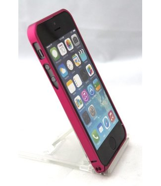 Icarer 0.7mm Ultra dun Aluminium Bumper voor iPhone 5 5s hard roze