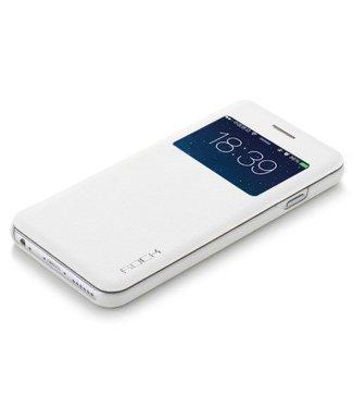 Rock Rock PU Leren Kijkvenster Wallet iPhone 6(s) plus - Wit
